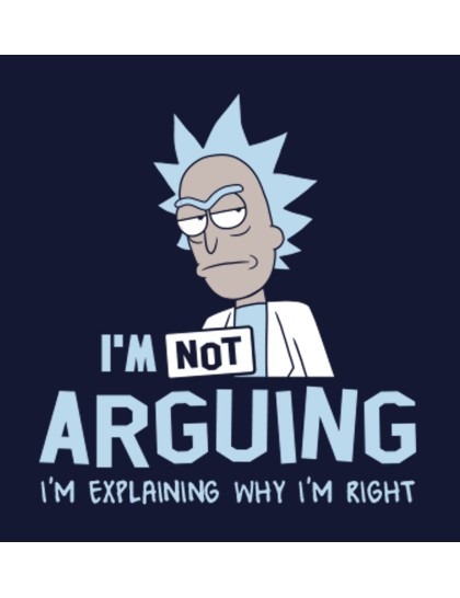 Hoodie - Rick and Morty: Not Arguing