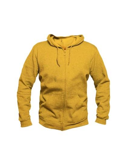 Yellow Zipper Hoodie