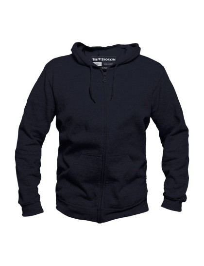Navy Blue Zipper Hoodie