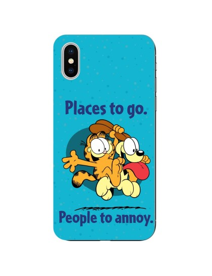 Garfield: Places to Go: iPhone X - Mobile Cover