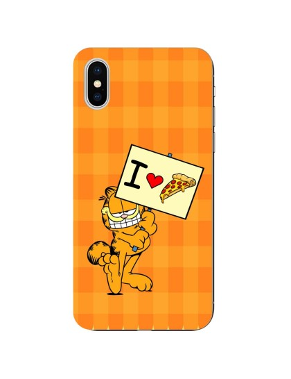 Garfield: I Love Pizza: iPhone X - Mobile Cover