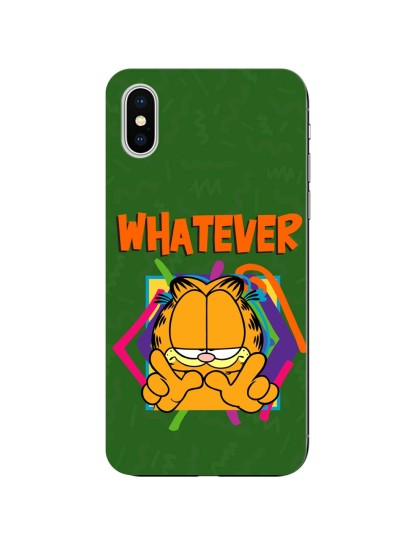 Garfield: Whatever: iPhone X - Mobile Cover