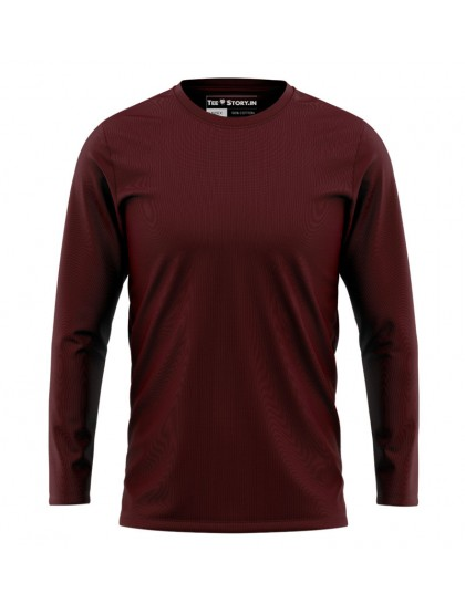 Full Sleeves: Basic Maroon
