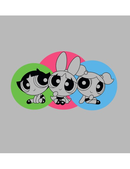 The Powerpuff girls: Three girls
