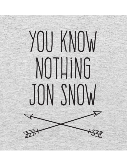 Game of Thrones: You know nothing Jon Snow