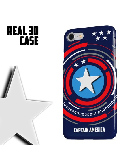 Captain America: Logo 3D Case
