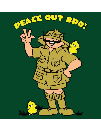 Tinkle: Peace out Bro